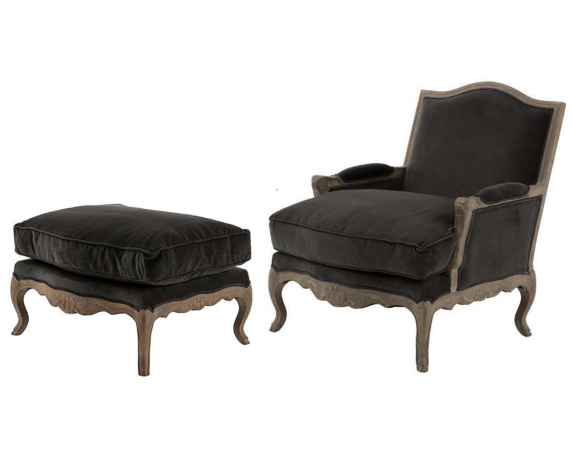 Кресло Winston RusticИнтерьерные кресла<br>Кресло с подставкой для ног Winston Rustic. Кресло с подлокотниками и подставка обтянуты тканью темно-серого цвета. Деревянные коричневые ножки. На седушке кресла и на подставке съемные подушки.&amp;amp;nbsp;&amp;lt;div&amp;gt;&amp;lt;br&amp;gt;&amp;lt;/div&amp;gt;&amp;lt;div&amp;gt;Размеры подставки: высота 42 см, ширина 76 см, глубина 60 см. Состав: 100% хлопок.&amp;lt;/div&amp;gt;<br><br>Material: Текстиль<br>Width см: 74<br>Depth см: 84<br>Height см: 92
