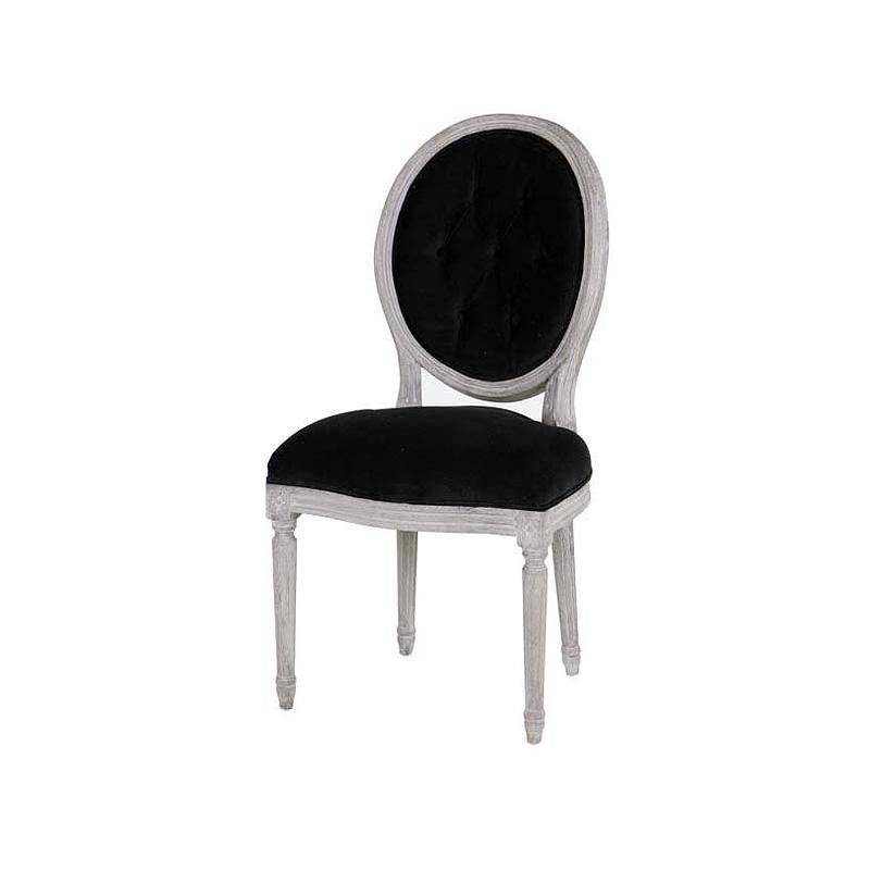 Стул Louis Philip RingОбеденные стулья<br>Мягкий стул Louis Philip Ring на деревянных ножках из состаренного дуба серого цвета. На спинке сзади декоративное кольцо.<br><br>Material: Вельвет<br>Width см: 54<br>Depth см: 54<br>Height см: 98
