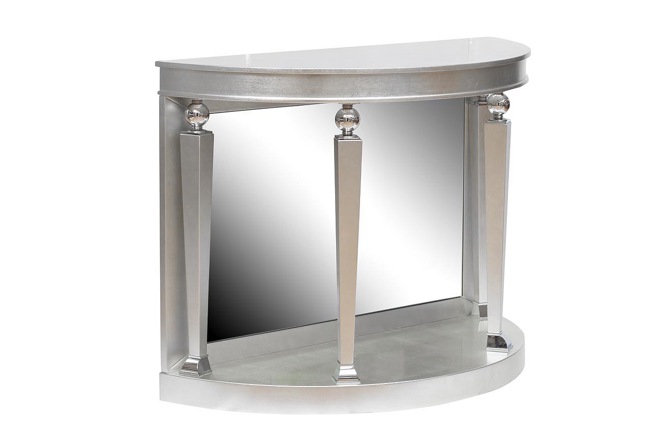 Консоль серебрянаяИнтерьерные консоли<br><br><br>Material: МДФ<br>Width см: 110<br>Depth см: 44<br>Height см: 76
