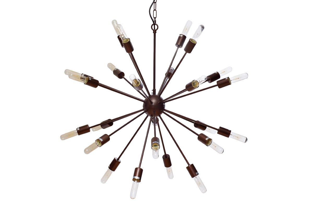 Светильник потолочныйПодвесные светильники<br>&amp;lt;div&amp;gt;Цоколь: E27&amp;lt;/div&amp;gt;&amp;lt;div&amp;gt;Мощность лампы: 40W&amp;lt;/div&amp;gt;&amp;lt;div&amp;gt;Количество ламп: 24&amp;lt;/div&amp;gt;&amp;lt;div&amp;gt;&amp;lt;br&amp;gt;&amp;lt;/div&amp;gt;&amp;lt;div&amp;gt;Материал: металл темно-коричневого цвета&amp;lt;/div&amp;gt;<br><br>Material: Металл<br>Ширина см: 95<br>Высота см: 83<br>Глубина см: 85