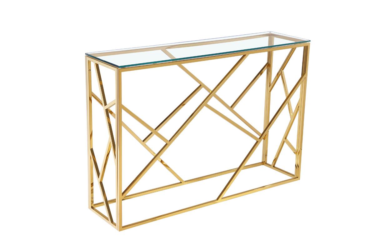 КонсольИнтерьерные консоли<br>Материал: столешница - стекло, каркас - нержавеющая сталь.<br><br>Material: Сталь<br>Ширина см: 115<br>Высота см: 78<br>Глубина см: 30