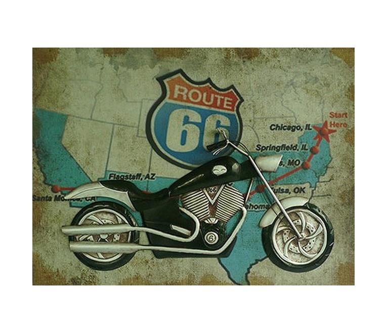 Декоративное настенное панно Motorcycle StoryПанно<br>Материалы:&amp;amp;nbsp;МДФ, Ткань, Металл<br><br>Material: МДФ<br>Width см: 60<br>Depth см: 7<br>Height см: 80