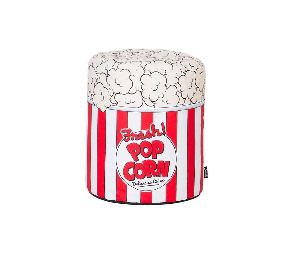 """Пуфик PopcornФорменные пуфы<br>В """"фастфудной"""" коллекции Woouf!, где вы найдёте пуф-бургер и пуф-картошку, случилось яркое прибавление. Мягкий пуфик Popcorn очень порадует киноманов, как правило, предпочитающих телевизору огромный экран и качественный звук, который позволяет погрузиться в сюжет с головой. С таким ведёрком попкорна домашние сеансы станут особенными, ведь нужное настроение теперь всегда включено. Высота бинбега — 45 см, диаметр — 40 см. Верх — полиэстер. Наполнитель — шарики полистирола. Благодаря качественным материалам модель долго сохраняет первозданную чистоту белого и насыщенность красного оттенков.<br><br>Material: Текстиль<br>Height см: 45<br>Diameter см: 40"""