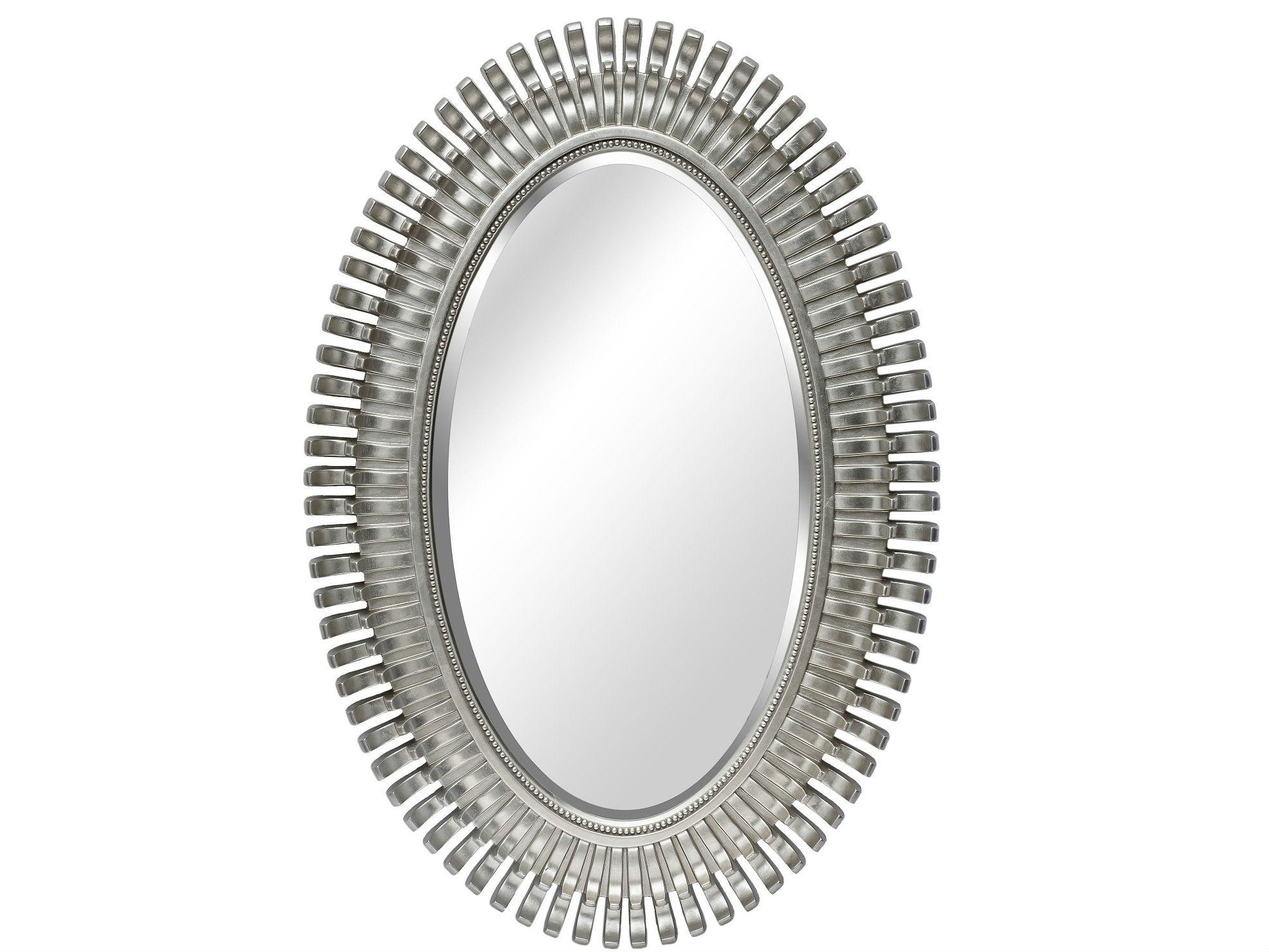 Зеркало AmerindНастенные зеркала<br>Цвет: Серебро<br>Материал: Полиуретан<br><br>Material: Стекло<br>Width см: 76<br>Height см: 112