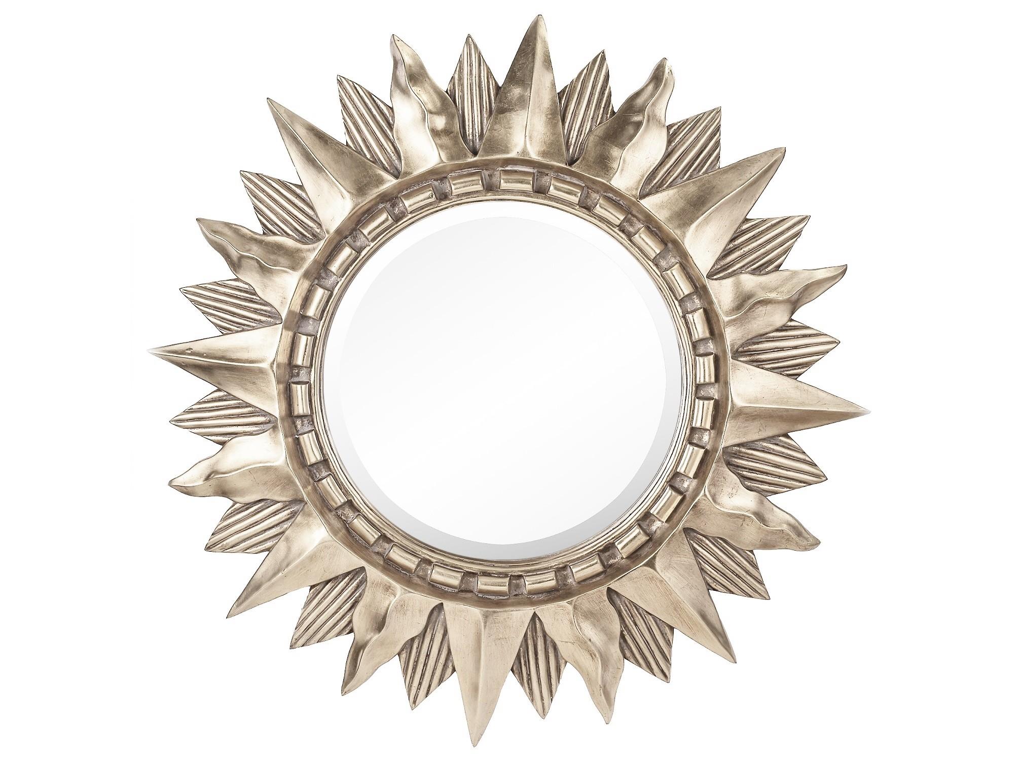 Зеркало Sol SilverНастенные зеркала<br>Материал: полирезин, стекло.<br><br>Material: Стекло<br>Length см: None<br>Width см: None<br>Depth см: 6.0<br>Height см: None<br>Diameter см: 85.0