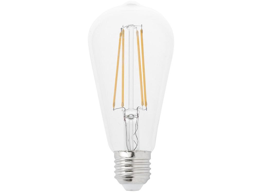 Лампочка Decorative Filament LedЛампочки<br>&amp;lt;div&amp;gt;Цоколь: E27&amp;lt;/div&amp;gt;&amp;lt;div&amp;gt;Мощность лампы: 4W&amp;lt;/div&amp;gt;&amp;lt;div&amp;gt;Количество ламп: 1&amp;lt;/div&amp;gt;<br><br>Material: Стекло<br>Height см: 14.6<br>Diameter см: 6.40