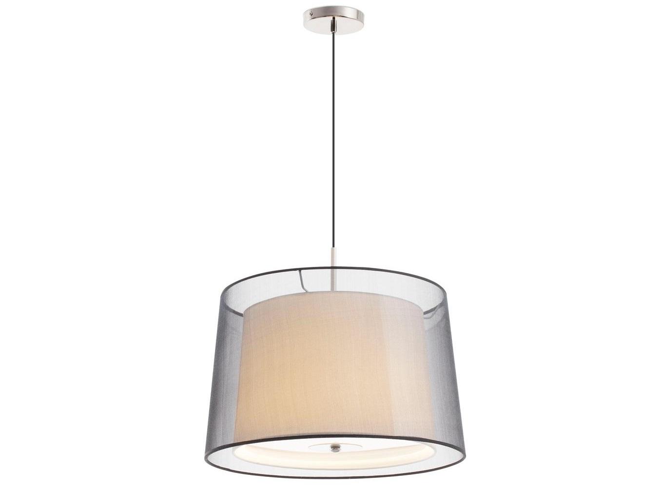 Люстра SabaПодвесные светильники<br>Люстра Saba является частью обширной одноименной коллекции, которая также включает настольные светильники, бра, торшеры и подвесы со схожим дизайном. Изделие имеет двойной абажур, один из которых изготовлен из текстиля. В нижней части внутреннего абажура установлен диффузор, произведенный из матированного опалового стекла. Благодаря ему освещение приобретают особенное великолепие, становится менее интенсивным и приятным для зрения.  Конструкция дизайнерского светильника Saba имеет никелированное покрытие. Прибор работает от трех ламп, которые не входят в комплект. Высота подвесной нити может корректироваться.&amp;amp;nbsp;&amp;lt;div&amp;gt;&amp;lt;br&amp;gt;&amp;lt;div&amp;gt;&amp;lt;div&amp;gt;Цоколь: E27&amp;lt;/div&amp;gt;&amp;lt;div&amp;gt;Мощность лампы: 40W&amp;lt;/div&amp;gt;&amp;lt;div&amp;gt;Количество ламп: 1&amp;lt;/div&amp;gt;&amp;lt;/div&amp;gt;&amp;lt;/div&amp;gt;<br><br>Material: Металл<br>Height см: 120<br>Diameter см: 46