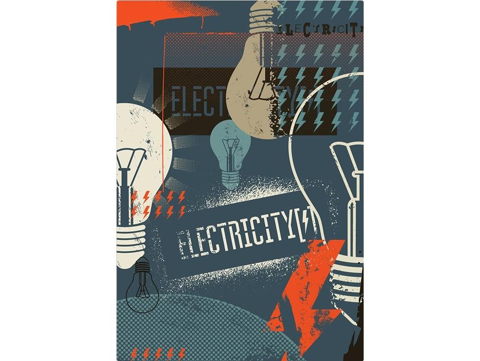Постер ElectricityПостеры<br>Электричество  .<br>Если в Вашей жизни не хватает мощного заряда энергии, то этот постер однозначно приходится у Вас дома. <br>Яркая, позитивная энергия, словно электричество заряжает теплом и светом всех, кто находится в зоне действия этого прекрасного постера.<br>Если в Вашей жизни или интерьере не хватает света и оригинальности, у нас есть то, что Вам нужно! <br>Постер   Electricity   прекрасно подойдет для любого интерьера с холодным цветовым решением. Он не просто добавит в него креатива и стиля, но и согреет своим теплом каждого обитателя Вашего дома.<br><br>Material: Бумага<br>Width см: 59<br>Height см: 84