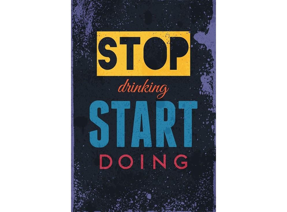 Постер Stop drinking start doingПостеры<br>Хватит пить, начинай делать  .<br>Этот постер точно не понравится владельцам баров или клубов, зато станет отличной мотиваций для тех, чей праздник в жизни затянулся. Безудержное веселье, танцы до утра и коктейли рекой - это прекрасно. Но в нашей жизни во всём нужно знать меру. Если Вам кажется, что снять усталость можно только выпив пару бутылок вина, то Вы сильно ошибаетесь. В мире так много прекрасных вещей, которые поднимут Вам настроения без единой капли алкоголя. Вещей, которые помогут Вам взять себя в руки и начать действовать.<br>Такой вещью, например, может стать постер   Stop drinking start doing  . Если Вам кажется, что Ваш друг достиг звания короля вечеринок, но ничего не достиг в работе и личной жизни, то этот подарок станет для него приятным началом новой жизни.<br><br>Material: Бумага<br>Width см: 59<br>Height см: 84