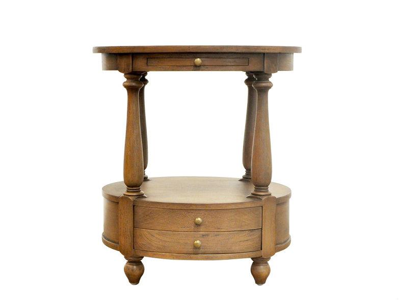 Кофейный столик Stanley Side TableКофейные столики<br><br><br>Material: Дерево<br>Width см: None<br>Depth см: None<br>Height см: 66<br>Diameter см: 61