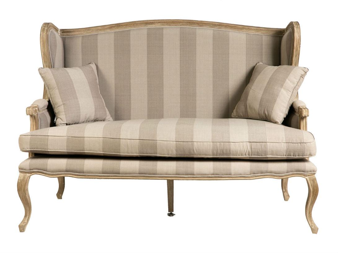 ДиванеткаДвухместные диваны<br>Изящные формы, стройный силуэт, классический дизайн — основные характеристики представленной диванетки.  Выполнен на каркасе из натуральной древесины. Подушки сиденья независимые, так же дополнительно в комплекте имеются две декоративные подушки. Изделие предлагается в текстильной обивке .На мягкой и удобной диванетке можно отдохнуть, ведя неспешные беседы, или погрузиться в чтение любимой книги.<br><br>Material: Текстиль<br>Width см: 150<br>Depth см: 80<br>Height см: 104