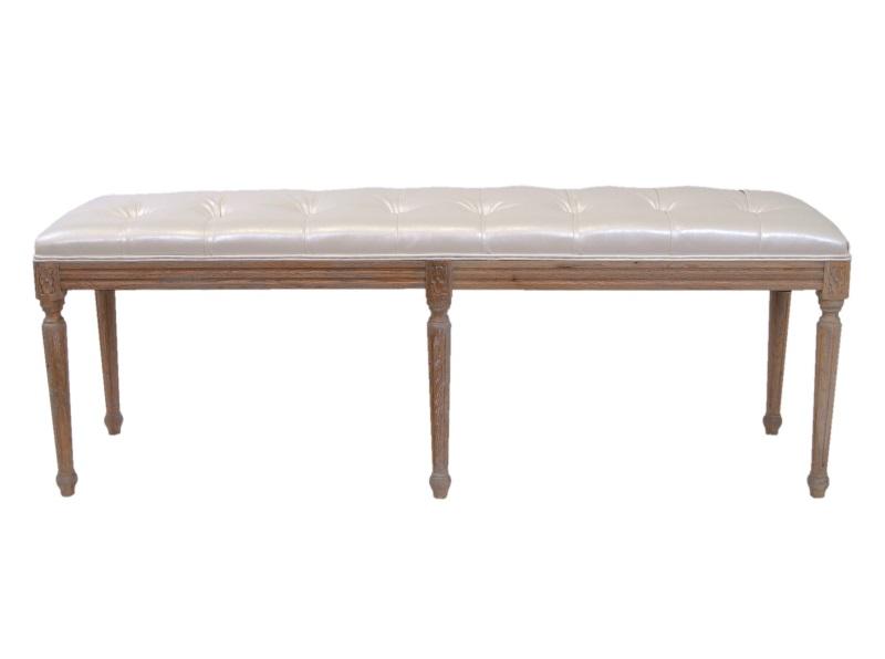 Банкетка ClayБанкетки и оттоманки<br>Банкетка это удобная и универсальная мебель, которая найдет себе место в вашей прихожей или в спальне. Еще одним преимуществом данной модели являются ее качественные характеристики: ножки и каркас сделаны из натурального дерева, а обивка из эко-кожи.<br><br>Material: Кожа<br>Width см: 142<br>Depth см: 38<br>Height см: 48
