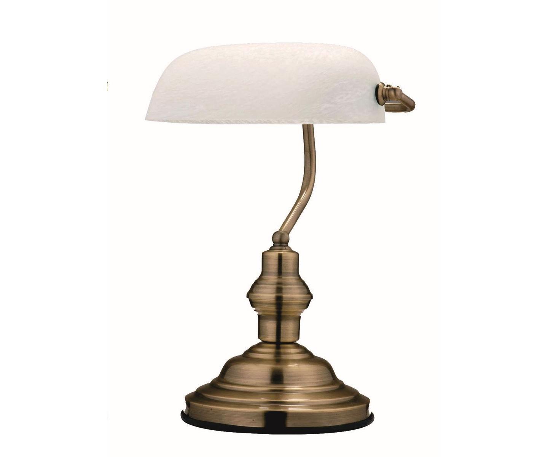 Лампа Antique - белый плафонДекоративные лампы<br><br><br>Material: Стекло<br>Width см: 25<br>Height см: 36