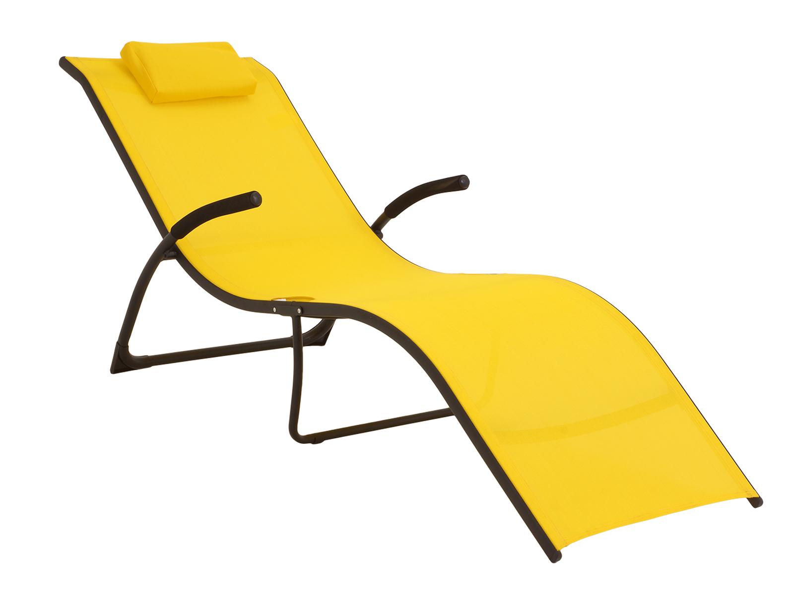 Шезлонг SunnyШезлонги<br>Удобный, раскладной шезлонг с сиденьем из текстилена.<br><br>Material: Текстиль<br>Length см: None<br>Width см: 173<br>Depth см: 63<br>Height см: 65