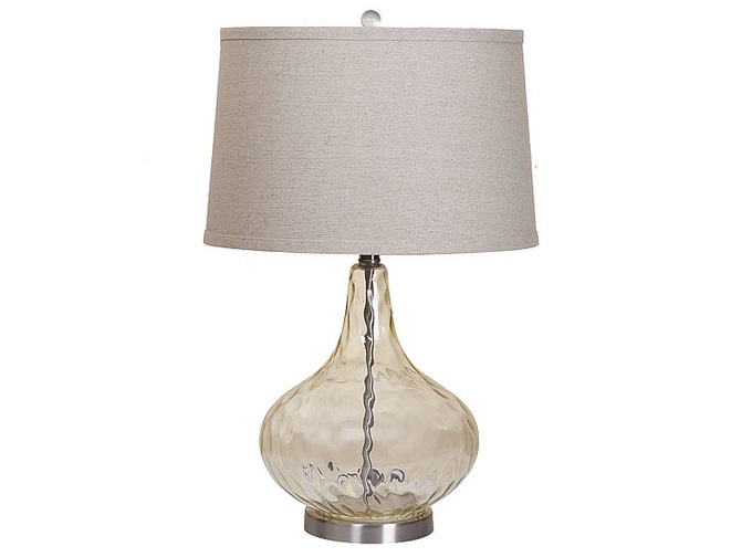 Лампа настольнаяДекоративные лампы<br>Материал: ножка - цветное стекло, наклонный плафон (можно менять направление света)<br>Цвет: коньячный<br><br>Material: Стекло<br>Высота см: 63