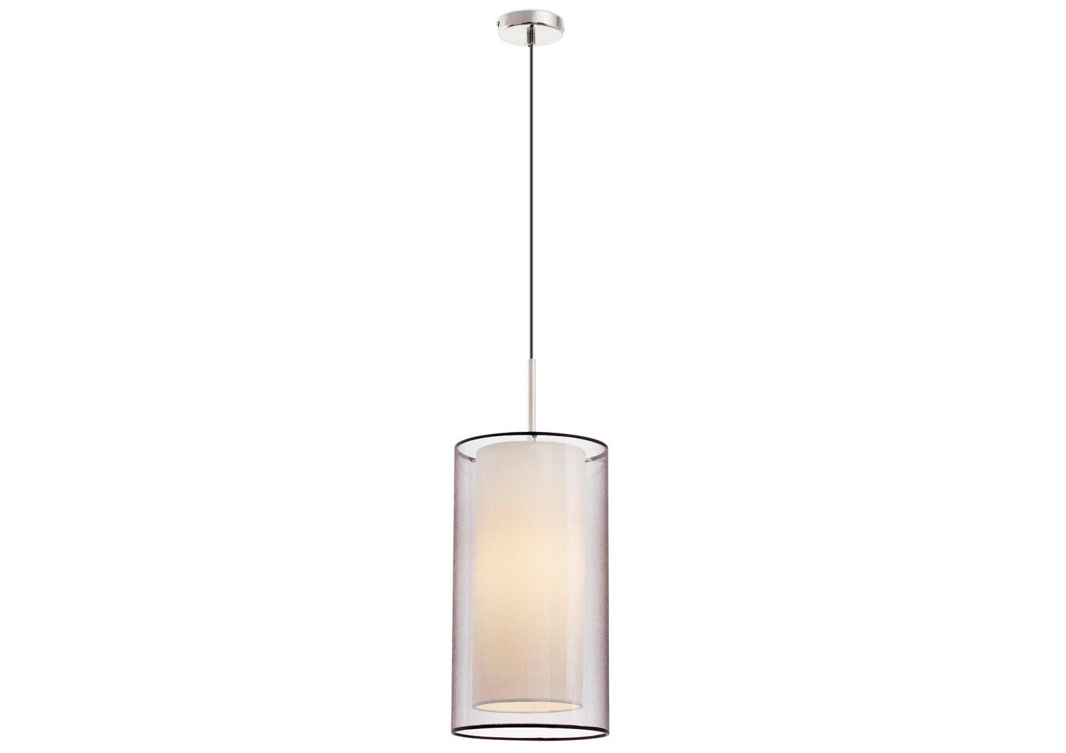 Подвесной светильник SabaПодвесные светильники<br>Подвес Saba является одной из моделей серии стильных предметов освещения, в которую вошли люстры, настольные светильники, бра, торшеры и подвесы, идентичные в дизайне. Дизайнерский светильник Saba имеет двойной абажур, один из которых обтянут полупрозрачной тканью. Диффузор, установленный в нижней части внутреннего абажура, изготовлен из опалового стекла. Благодаря ему освещение приобретает особенную мягкость и наполняет окружающее пространство романтичностью и атмосферой спокойствия. Конструкция стильного светильника имеет никелированное покрытие. Прибор работает от одной лампы типа Е27 40W, которая не входят в комплектацию товара.<br><br>Material: Металл<br>Высота см: 120