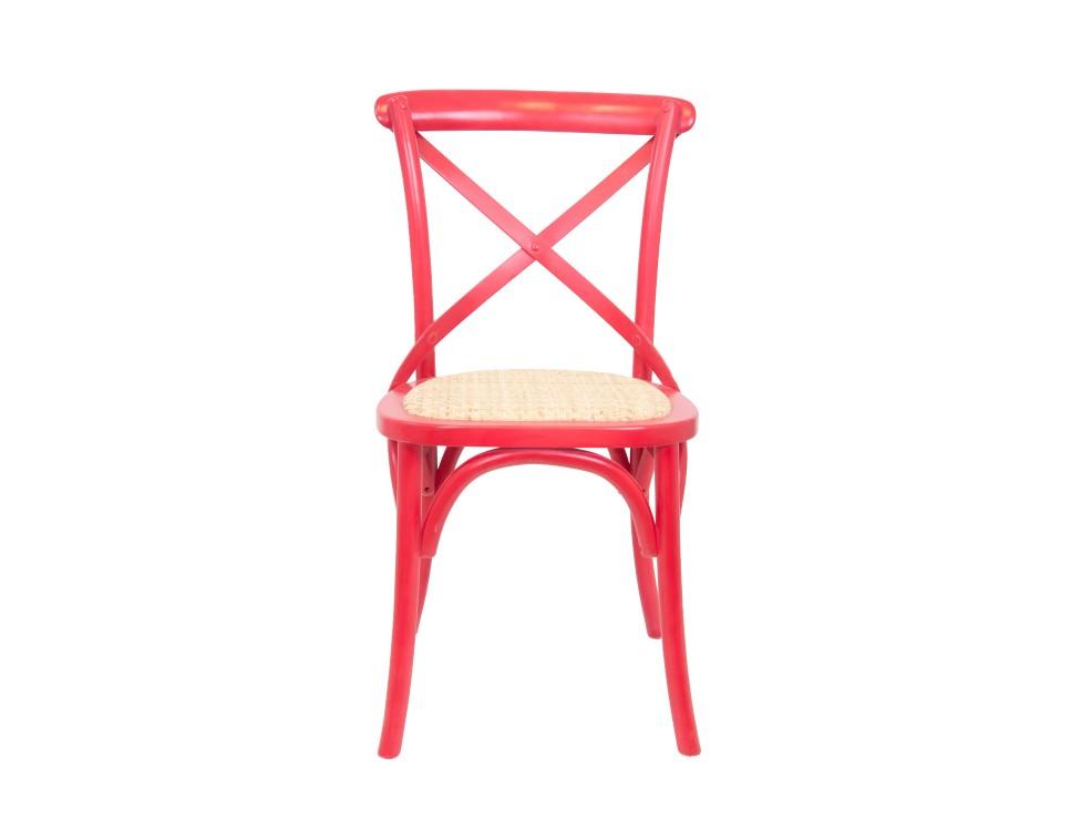 Стул CrossОбеденные стулья<br>Одна из самых популярных моделей стульев в духе кафе Европы. Удобная крестообрзная спинка, в сочетании с сидением из ротанга придает стулу невероятный комфорт. Стул отлично подходит как для домашнего интерьера, так и для кафе.&amp;amp;nbsp;<br><br>Material: Дерево<br>Ширина см: 45<br>Высота см: 89<br>Глубина см: 50