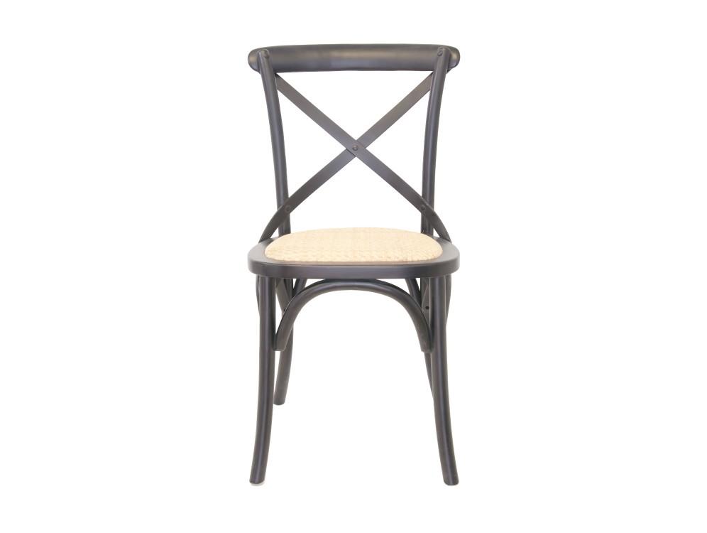 Стул CrossОбеденные стулья<br>Одна из самых популярных моделей стульев в духе кафе Европы. Удобная крестообразная спинка, в сочетании с сидением из ротанга придает стулу невероятный комфорт. Стул отлично подходит как для домашнего интерьера, так и для кафе.<br><br>Material: Дерево<br>Width см: 45<br>Depth см: 50<br>Height см: 89