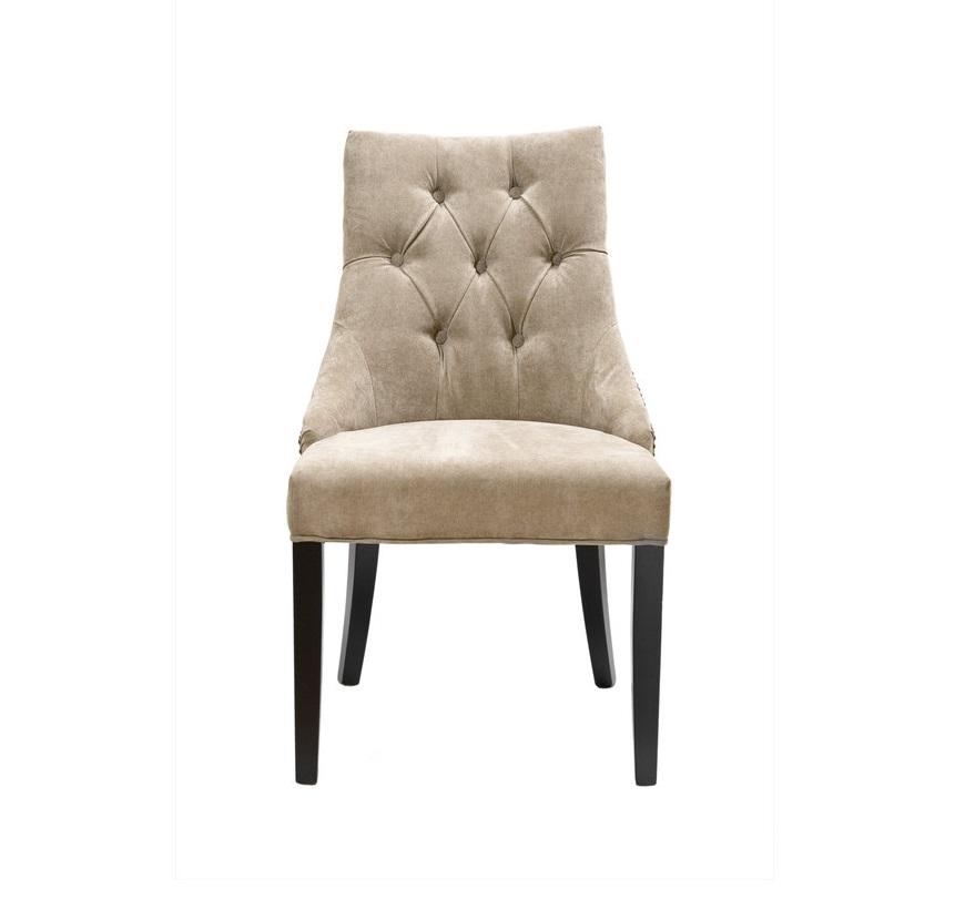 ПолукреслоПолукресла<br>Этот мягкий стул может украсить и гостиную, и столовую в современном классическом стиле. Мягкая спинка декорирована нарядной стёжкой, а силуэт слабо выраженных подлокотников подчёркивается «металлической строчкой». Бежевый цвет велюровой обивки выгодно контрастирует с чёрным каркасом, выполненным из массива берёзы.<br><br>Материал: чёрное дерево (берёза)&amp;amp;nbsp;&amp;lt;div&amp;gt;Обивка: бежевый велюр&amp;lt;/div&amp;gt;<br><br>Material: Велюр<br>Width см: 52<br>Depth см: 48<br>Height см: 89