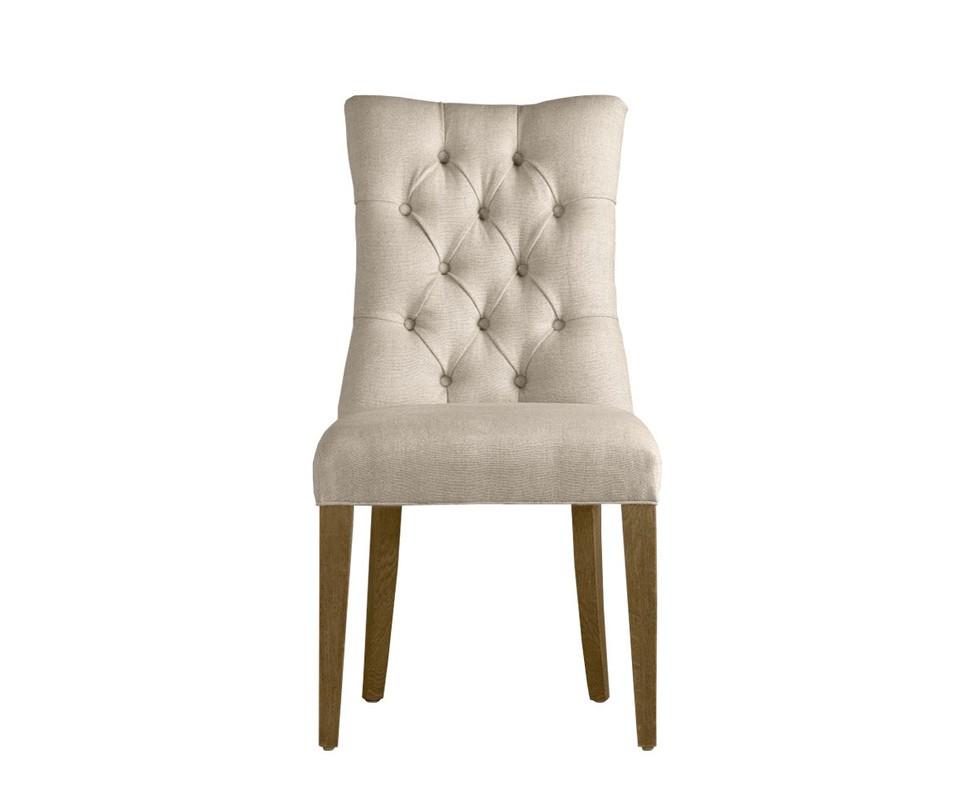 Стул MartinПолукресла<br>Нечасто встречаются вещи, которые с первого взгляда внушают доверие и уважение. Но винтажный стул «Martin» именно такой. Высокая спинка, декорированная вручную, и мягкое сиденье подарят удобную посадку, стилизованное оформление стула добавит в интерьер нотки французского лоска и шарма.<br>Фурнитура:<br>- обивочный ткань – натуральный бельгийский лен;<br>- каркас – массив ясеня;<br>- наполнение – пружинный блок, пенополиуретан;<br>- ручная работа;<br>- простеганная спинка;<br>- края стула оббиты декорированными гвоздями.<br><br>Возможны расцветки ткани:<br>- светлый лен F01;<br>- коричневый лен F02<br><br>Material: Текстиль<br>Width см: 51<br>Depth см: 67<br>Height см: 99