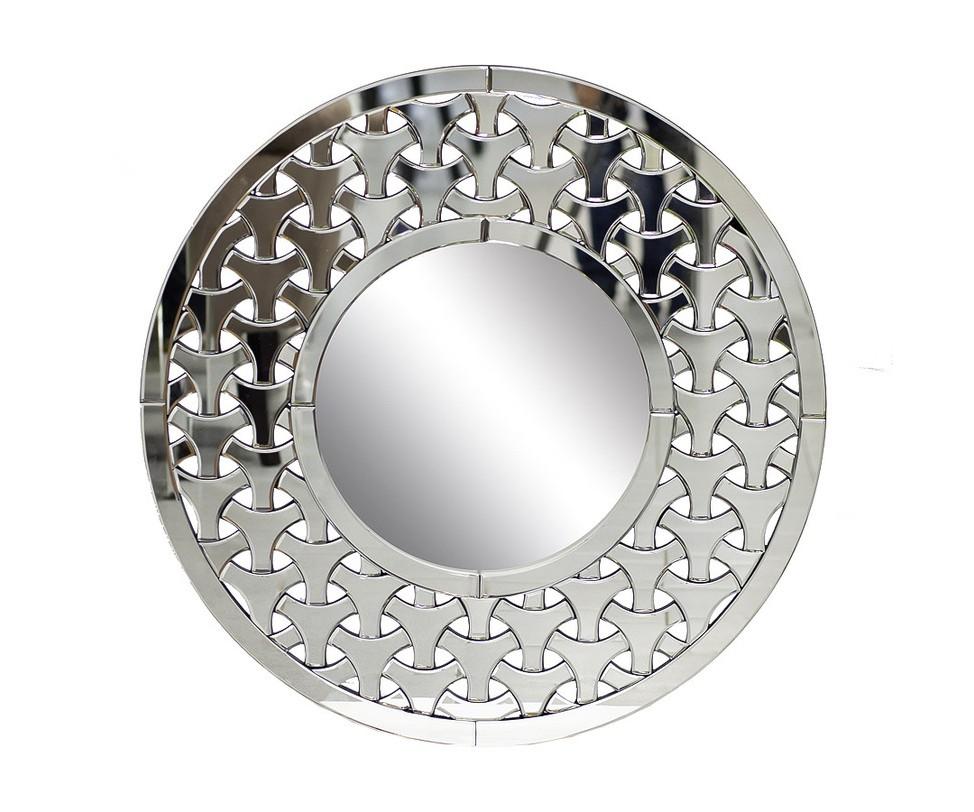 ЗеркалоНастенные зеркала<br>Скандинавские рунические мотивы, арабские или славянские орнаменты – что вы увидите в хитросплетениях мозаичной рамы этого необычного зеркала? Как и многие другие предметы интерьера от Garda Decor, это не просто зеркало, а скорее арт-объект. Оно притягивает взгляд, заставляя долго изучать кружевной узор.<br><br>Material: Стекло<br>Length см: None<br>Width см: None<br>Depth см: None<br>Height см: None<br>Diameter см: 92.0