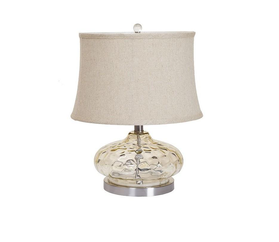Лампа настольнаяДекоративные лампы<br>Цвет: коньячный<br>Цоколь: E27<br>Лампа: 1*60W<br><br>Material: Стекло<br>Length см: None<br>Width см: None<br>Depth см: None<br>Height см: 46.0<br>Diameter см: 36.0