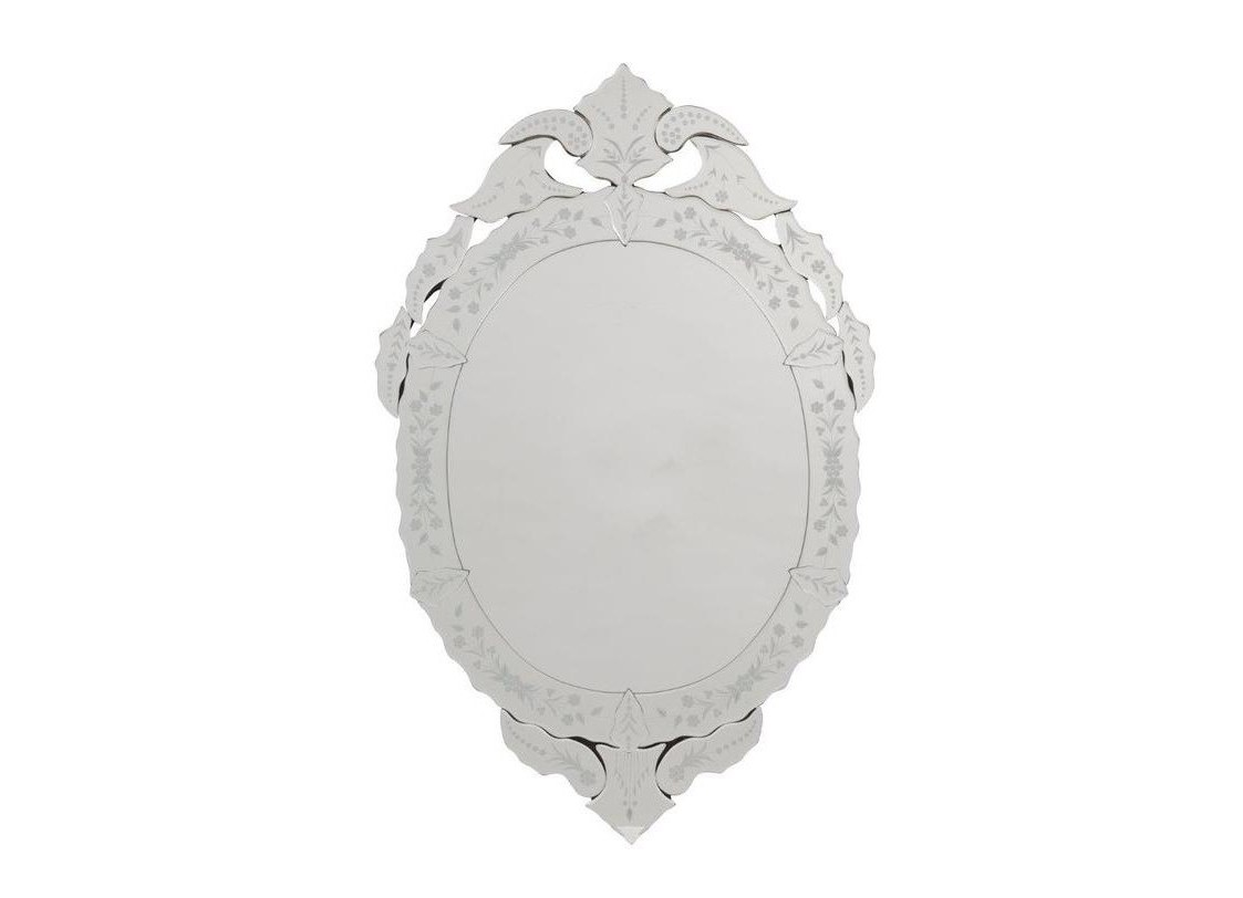 Зеркало ChalettoНастенные зеркала<br>Роскошное зеркало &amp;quot;Chaletto&amp;quot;, декорированное такими же зеркальными элементами и неброской росписью, издали напоминает предмет декора аристократических домов и дворцов.<br><br>Material: Стекло<br>Length см: None<br>Width см: 55.0<br>Depth см: 2.5<br>Height см: 87.0<br>Diameter см: None