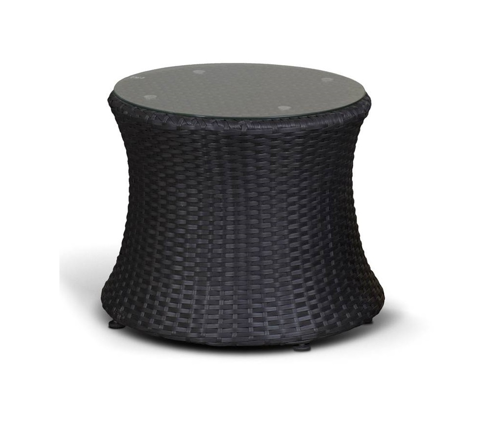Столик ТуллонСтолы и столики для сада<br>Столик со стеклянной столешницей толщиной 5 мм<br><br>Material: Ротанг<br>Length см: None<br>Width см: None<br>Depth см: None<br>Height см: 51<br>Diameter см: 49