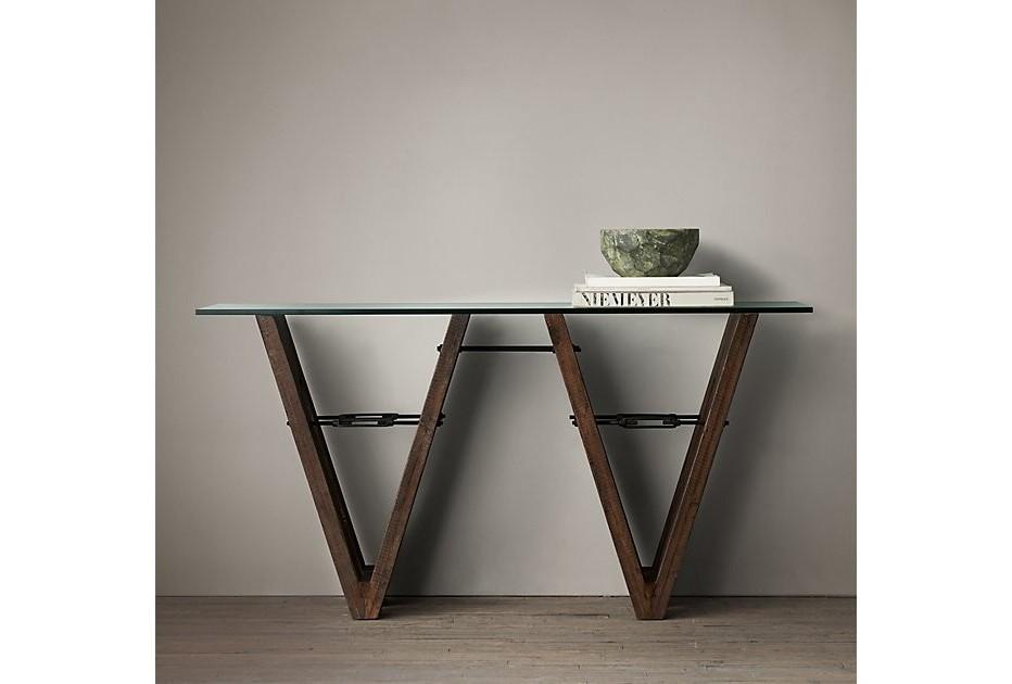 Консоль V-FormИнтерьерные консоли<br>Стол ручной работы. Основание выполнено из сосны, столешница из закаленного стекла. По желанию клиента на выбор есть 2 вида стекла. Каждый элемент этого стола уникален и нет двух абсолютно одинаковых таких столов. &amp;amp;nbsp;&amp;lt;div&amp;gt;&amp;lt;br&amp;gt;&amp;lt;/div&amp;gt;&amp;lt;div&amp;gt;Гарантия: от производителя 1 год&amp;amp;nbsp;&amp;lt;/div&amp;gt;&amp;lt;div&amp;gt;Гарантия от производителя&amp;amp;nbsp;&amp;lt;/div&amp;gt;&amp;lt;div&amp;gt;Материалы: Массив сосны, закаленное стекло 19 мм .&amp;amp;nbsp;&amp;lt;/div&amp;gt;&amp;lt;div&amp;gt;&amp;lt;span style=&amp;quot;line-height: 1.78571;&amp;quot;&amp;gt;Более точную информацию уточняйте у менеджера.&amp;lt;/span&amp;gt;&amp;lt;br&amp;gt;&amp;lt;/div&amp;gt;<br><br>Material: Сосна<br>Ширина см: 169<br>Высота см: 88<br>Глубина см: 43