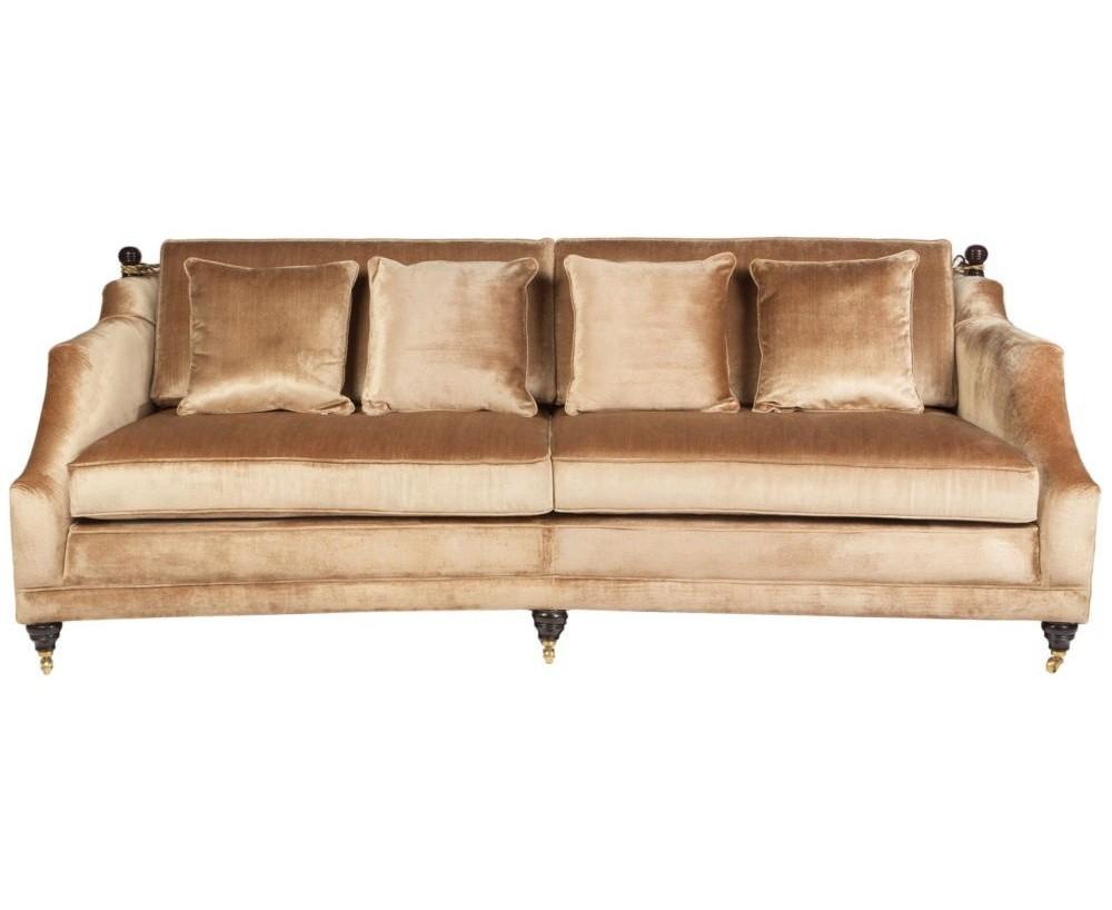 ДиванТрехместные диваны<br>Этот диван – реверанс дизайнеров в сторону эпохи барокко, с ее богатыми приемами и пышными дамскими кринолинами. Современные тенденции позволяют такой мебели появляться не только в классических интерьерах, но и разбавлять своей роскошью потертые лофты.<br><br>Material: Текстиль<br>Width см: 240<br>Depth см: 95<br>Height см: 90