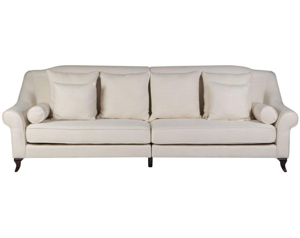Диван Prime MinisterДиваны четырехместные и более<br>Строгие, выдержанные в викторианском стиле, диваны и кресла Prime Minister великолепно впишутся в любой интерьер. Классический изгиб подлокотников позволит им быть гармоничными в богатом барокко, пышные подушки разных размеров и удобные валики не исключают нео-классику, а кокетливо изогнутые деревянные ножки открывают двери в великий стиль Ар-Деко. У нас Вы найдете богатую палитру цветов и оттенков, в которых представлен Prime Minister и сможете сделать его строгой удобной деталью или броским акцентом.<br><br>Material: Текстиль<br>Width см: 280<br>Depth см: 96<br>Height см: 96