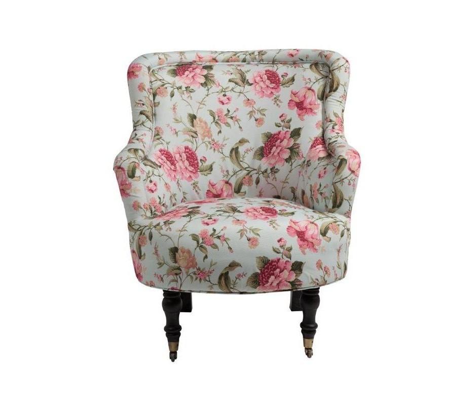 Кресло SelucheИнтерьерные кресла<br>Мягкое кресло Seluche с подлокотниками и округлым сиденьем изготовлено на деревянном каркасе с изящными передними ножками на колёсиках, задние - красиво изогнуты. Натуральная, из яркой хлопковой ткани, обивка полностью покрывает кресло. Привлекательный дизайн кресла сочетается с качественными комплектующими и надежными поставщиками.<br>Материал: деревянный каркас (береза), поролон, ткань (хлопок)<br><br>Material: Текстиль<br>Length см: 76<br>Width см: 84<br>Depth см: None<br>Height см: 94<br>Diameter см: None