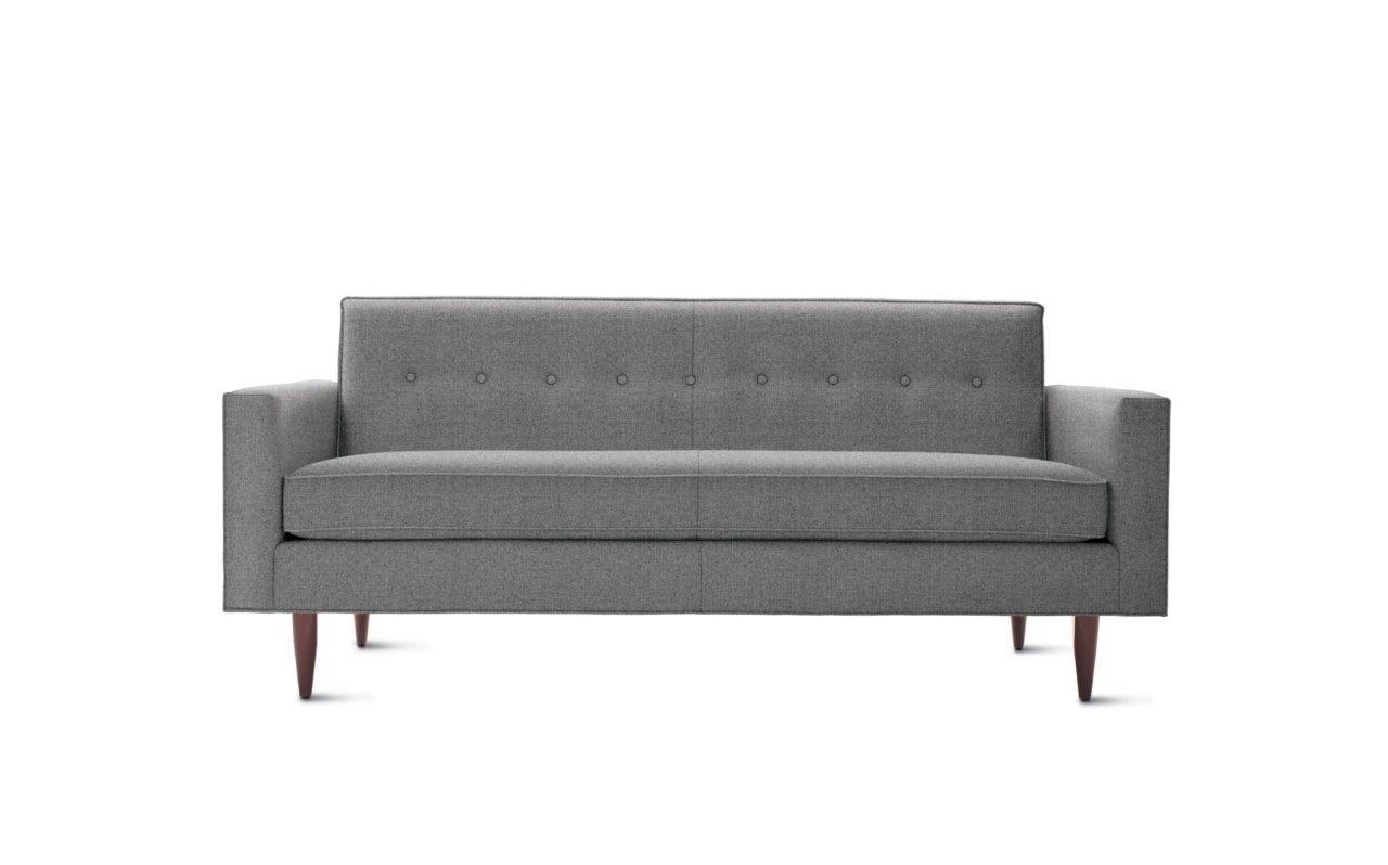 Диван Bantam SofaТрехместные диваны<br>Лаконичный и стильный диван в серой текстильной обивке. Благодаря нейтральному цвету диван по праву станет завершением выверенного дизайна в стиле современного лофта.<br><br>Material: Текстиль<br>Length см: None<br>Width см: 186<br>Depth см: 81<br>Height см: 84