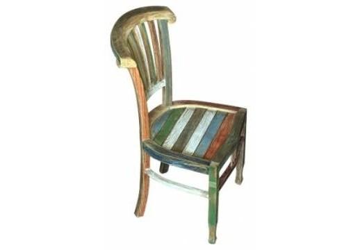 Стул  IvyОбеденные стулья<br>Стул, моментально погружающий в атмосферу загородного дома, наполненного теплом и солнцем, где вся семья собралась за большим столом, а бабушка угощает своими отменными кушаньями. Реечные спинка и сидения. Возможен вариант в цвете: стул будто раскрасил непоседа-малыш. Идеальный вариант для детской еще и по причине экологичности материала.<br><br>Material: Тик<br>Length см: None<br>Width см: 49.0<br>Depth см: 44.0<br>Height см: 97.0<br>Diameter см: None