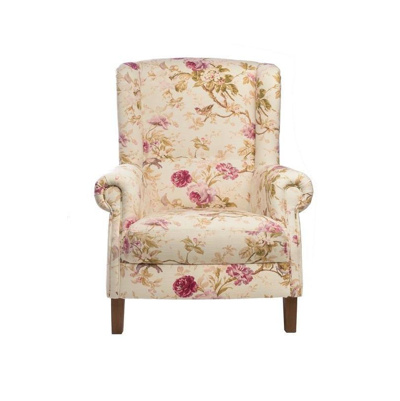 Кресло ShannonКресла с высокой спинкой<br>А в вашем доме есть уютное местечко, в котором вы можете добиться абсолютной релаксации? Это удобное вольтеровское кресло будет выигрышно смотреться как в нежно оформленной детской, так и в любой другой комнате. Оно просто идеально для отдыха у камина: &amp;amp;nbsp;хорошо сохраняет тепло, защищает от искр. Кресло не только уютное и удобное, но и еще совершенно романтичное.<br><br>Каркас: хвойные породы дерева.<br>Обивка: 75%хлопок, 25%лен<br>Наполнитель: высокоэластичный ППУ.<br>Ножки: хвойные породы.<br>Цвет: бежевый с принтом из цветов<br><br>Material: Текстиль<br>Length см: 101<br>Width см: 82<br>Depth см: None<br>Height см: 93<br>Diameter см: None