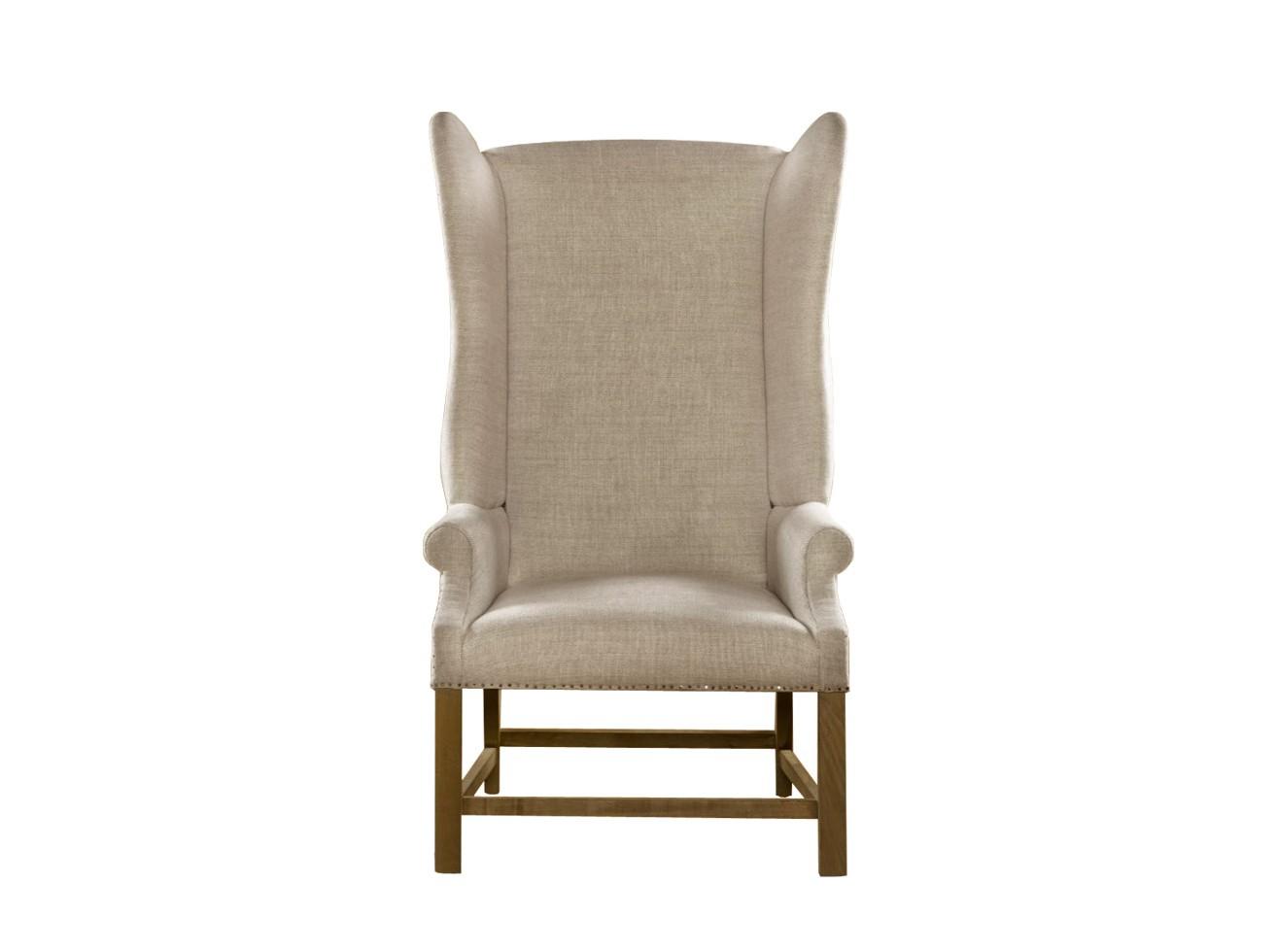 Кресло VirginieКресла с высокой спинкой<br>Мягкая мебель должна быть не только удобной и красивой, она также должна иметь индивидуальность. Подобными качествами обладает кресло «Virginie». В его оригинальном оформлении усматривается связь с величественными интерьерами французских замков и дворцов. Качественный наполнитель, натуральная обивочная ткань и дерево, усиливая данное впечатление, придают модели тематическую завершенность.<br><br>Ткань: синий лен<br>Объем: 0,880 куба<br>Вес: 34 кг<br><br>Material: Лен<br>Length см: None<br>Width см: 76.0<br>Depth см: 78.0<br>Height см: 133.0<br>Diameter см: None