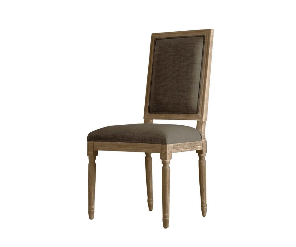Стул Oliver side chairОбеденные стулья<br>Стул Oliver side chair выполнен в традиционном английском стиле. Каркас изготовлен из массива дуба, тщательно обработанного и искусственно состаренного, и украшен тонкой резьбой. Она придает мебели еще более аристократичный вид. Сиденье и спинка обтянуты винтажной тканью на несколько тонов темнее древесины.<br><br>Material: Текстиль<br>Ширина см: 56<br>Высота см: 102