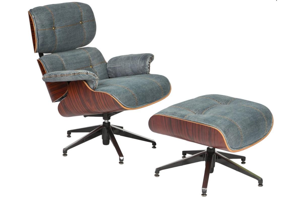 Кресло+пуфРабочие кресла<br><br><br>Material: Джинса<br>Ширина см: 82<br>Высота см: 91<br>Глубина см: 87