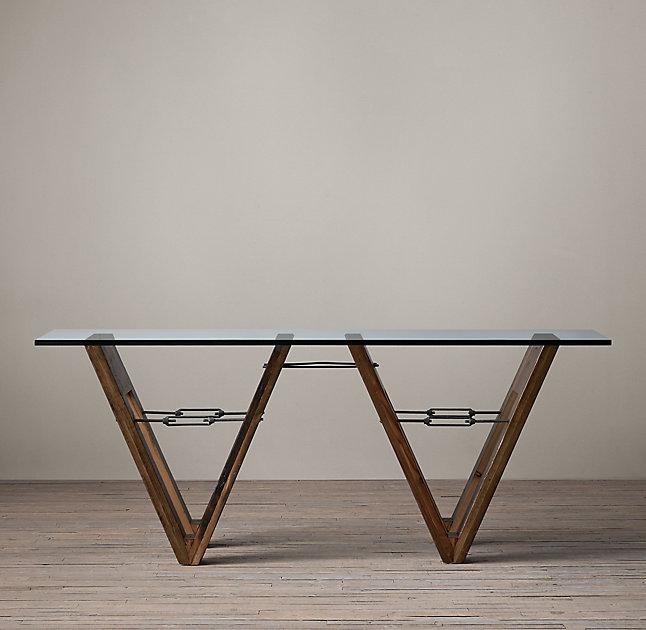 Стол V-FormОбеденные столы<br>Стол ручной работы. Основание выполнено из сосны, столешница из закаленного стекла. По желанию клиента на выбор есть 2 вида стекла. Каждый элемент этого стола уникален и нет двух абсолютно одинаковых таких столов.&amp;amp;nbsp;&amp;lt;div&amp;gt;&amp;lt;br&amp;gt;&amp;lt;/div&amp;gt;&amp;lt;div&amp;gt;&amp;lt;div&amp;gt;Гарантия: от производителя 1 год.&amp;lt;/div&amp;gt;&amp;lt;div&amp;gt;Материалы: Массив сосны, закаленное стекло 19 мм.&amp;lt;/div&amp;gt;&amp;lt;div&amp;gt;Более точную информацию уточняйте у менеджера.&amp;lt;/div&amp;gt;&amp;lt;/div&amp;gt;<br><br>Material: Дерево<br>Length см: None<br>Width см: 213<br>Depth см: 101<br>Height см: 76