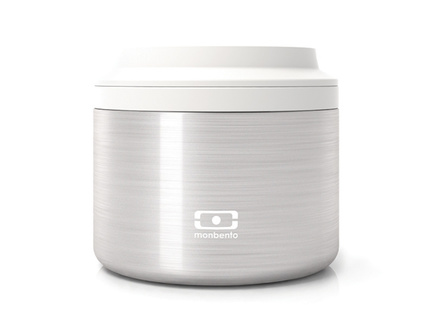 Контейнер для еды element s (monbento) серебристый 7 см.
