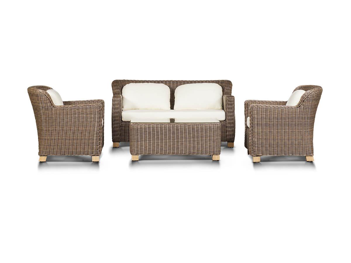Лаунж зона ЛибрариКомплекты уличной мебели<br>&amp;lt;div&amp;gt;Лаунж зона на 4 персоны. 1 двухместный диван, 2 кресла, журнальный столик со стеклянной столешницей толщиной 5 мм.&amp;amp;nbsp;&amp;lt;/div&amp;gt;&amp;lt;div&amp;gt;Алюминиевый каркас, искусственный ротанг, плетение круглое.Цвет подушек светло-бежевый.&amp;amp;nbsp;&amp;lt;/div&amp;gt;&amp;lt;div&amp;gt;&amp;lt;br&amp;gt;&amp;lt;/div&amp;gt;&amp;lt;div&amp;gt;Диван: 156х87х80 см.&amp;amp;nbsp;&amp;lt;/div&amp;gt;&amp;lt;div&amp;gt;Кресло: 51х87х80 см.&amp;amp;nbsp;&amp;lt;/div&amp;gt;&amp;lt;div&amp;gt;Журнальный столик: 133х58х42 см&amp;lt;/div&amp;gt;<br><br>Material: Ротанг<br>Width см: 156<br>Depth см: 87<br>Height см: 80