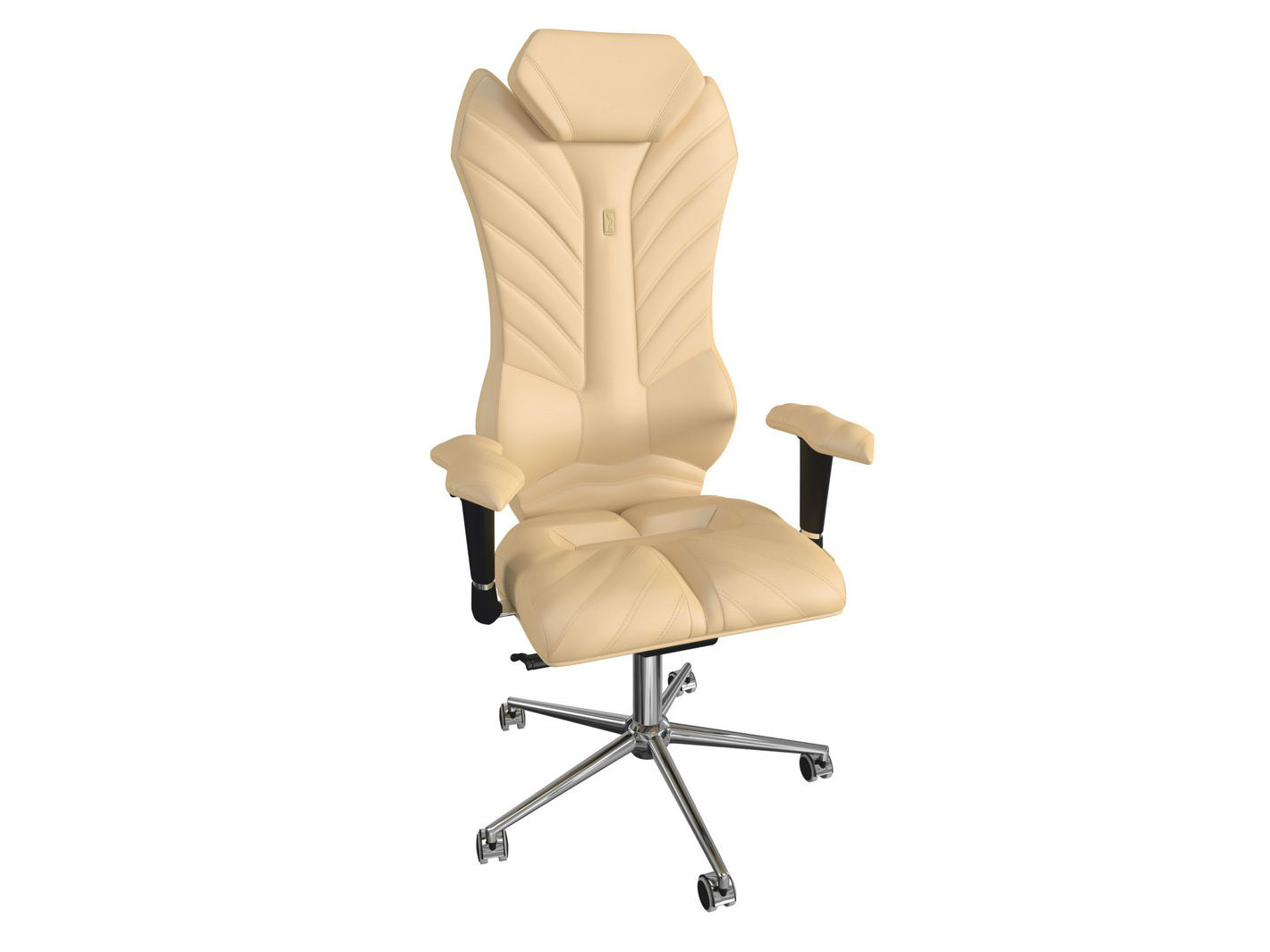 Кресло MONARCHРабочие кресла<br>Отличное решение для тех, кто ценит комфорт и любит свободное пространство. Имперское величие и викторианское изящество придают креслу вид аристократизма и благородства.&amp;amp;nbsp;<br><br>Material: Кожа<br>Length см: None<br>Width см: 76<br>Depth см: 58<br>Height см: 147<br>Diameter см: None