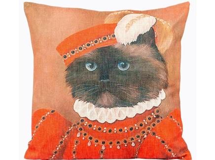 Арт-подушка музейный экспонат , версия 46 (object desire) оранжевый 45.0x15.0x15 см.