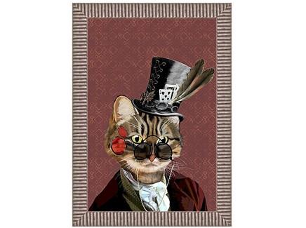 Арт-постер мистер кот (object desire) коричневый 50.0x70.0x4.0 см.