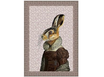 Арт-постер мисс зайка (object desire) коричневый 50.0x70.0x4.0 см.