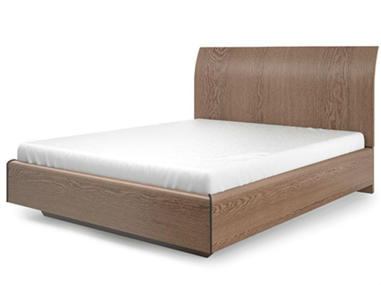 """Кровать LorraДеревянные кровати<br>Кровать из серии Lorra из натурального дерева. Особенность модели обусловлена оригинальным закругленным изголовьем, однако дизайн остается простым и лаконичным, что очень соответствует современному лофт-стилю. Кровать может быть изготолвена в двух разных оттенках: натуральный оттенок&amp;nbsp;""""белый дуб"""" и более глубокий коричневый """"&amp;nbsp;ясень"""".&amp;nbsp;&amp;nbsp;Отделка: шпон дуб белый,&amp;nbsp;ясень choco1.&amp;nbsp;Размер спального места: 180*200 см.<br><br>Под заказ. Производство изделия 5-6 недель.<br><br>kit: None<br>gender: None"""