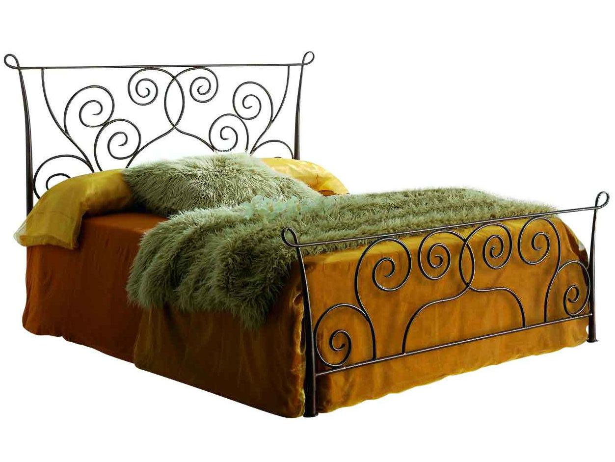 Кровать 511 (160х200) состаренное золото