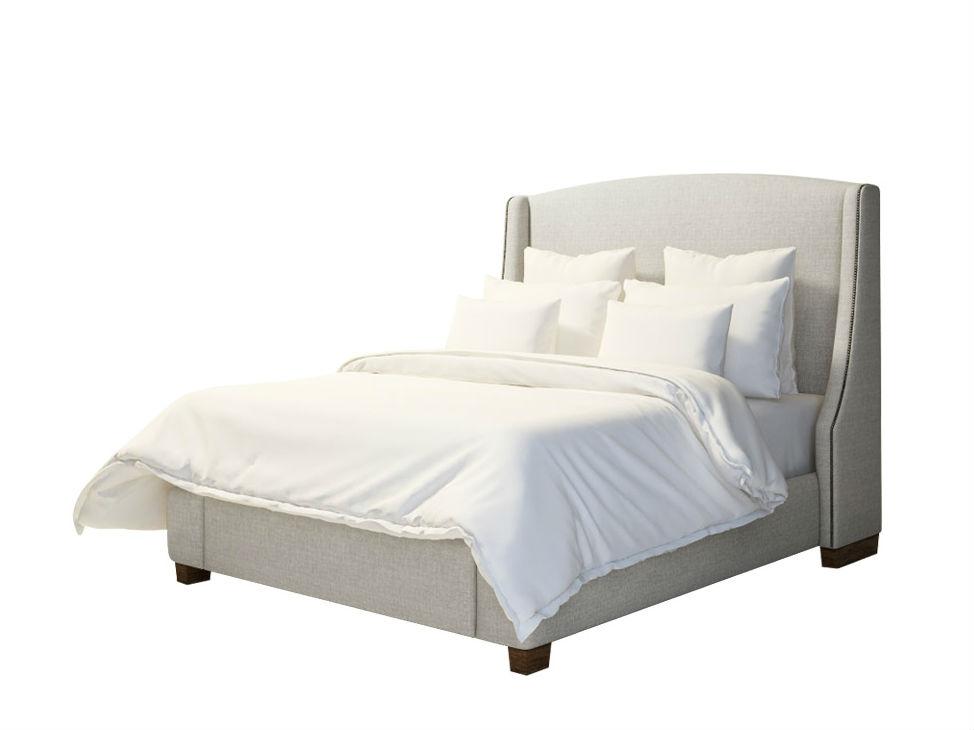 Кровать Gramercy II KingКровати с мягким изголовьем<br><br><br>Material: Текстиль<br>Ширина см: 207<br>Высота см: 158<br>Глубина см: 220