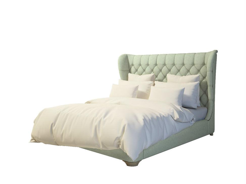 Кровать Grace II King SizeКровати с мягким изголовьем<br><br><br>Material: Текстиль<br>Width см: 212<br>Depth см: 227<br>Height см: 145