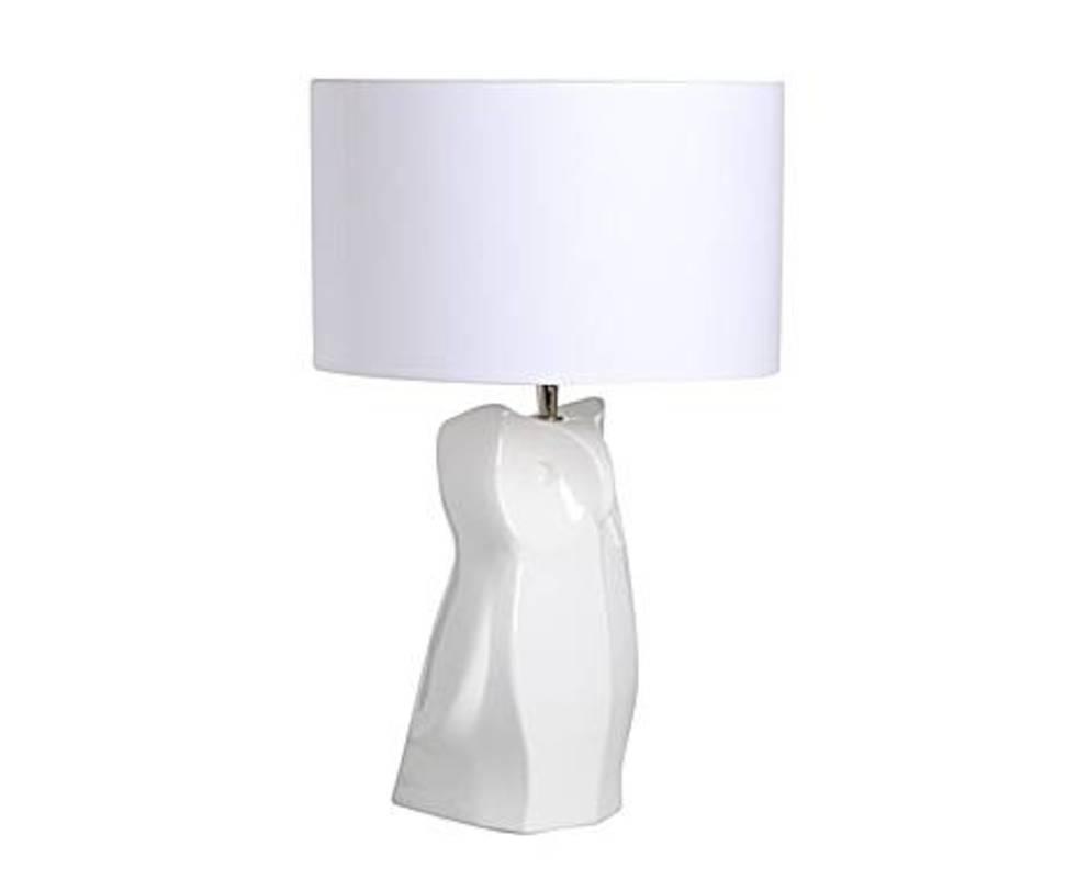 Настольная  лампаДекоративные лампы<br>Белоснежная настольная лампа, от которой буквально веет северной свежестью и прохладой. Основание лампы очертаниями своими напоминает айсберг, оно выглядит монументально и при этом достаточно изящно.&amp;lt;div&amp;gt;&amp;lt;br&amp;gt;&amp;lt;/div&amp;gt;&amp;lt;div&amp;gt;&amp;lt;div&amp;gt;Вид цоколя: E27&amp;lt;/div&amp;gt;&amp;lt;div&amp;gt;Мощность: 60W&amp;lt;/div&amp;gt;&amp;lt;div&amp;gt;Количество ламп: 1&amp;lt;/div&amp;gt;&amp;lt;/div&amp;gt;<br><br>Material: Керамика<br>Height см: 49<br>Diameter см: 30